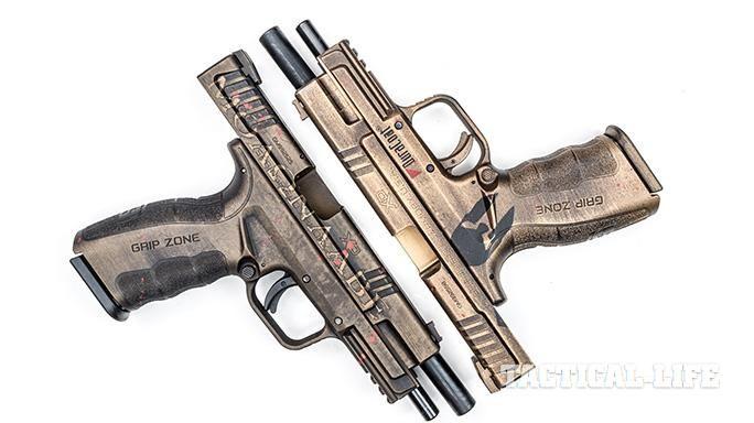 Artisans at War: 2 Customized, 'Spartanized' Springfield XD Mod.2 9mm Pistols