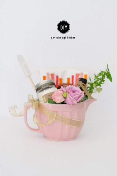 DIY pancakes basket: http://www.stylemepretty.com/living/2015/04/27/diy-mothers-day-pancake-gift-basket/ | Photography: Rebecca Yale - http://www.rebeccayalephotography.com/