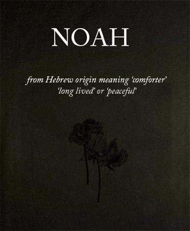 Name meaning: Noah