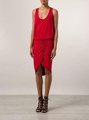 NWT-785-Alexandre-Vauthier-Slinky-Draped-Asymmetrical-Jersey-RED-Dress-Sz-4-S
