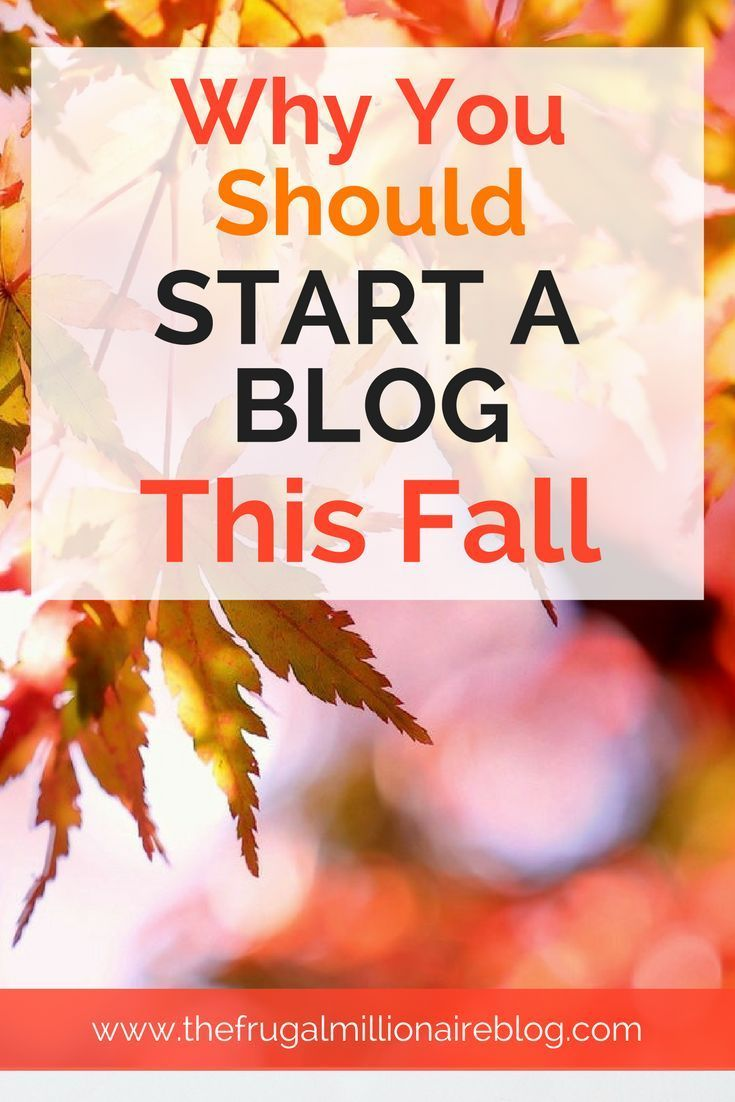 I'm celebrating my three-year blog anniversary this fall. Here is why fall is the absolute BEST time to start a blog.
