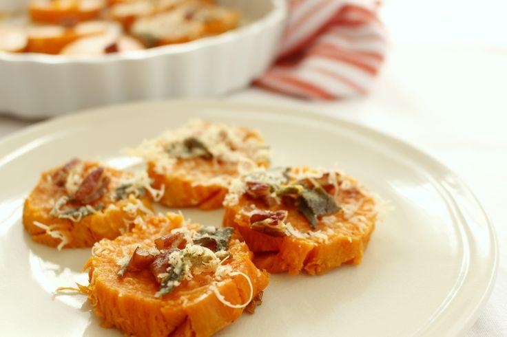 Contorni di verdure: patate dolci al forno con salvia e parmigiano   Junglam