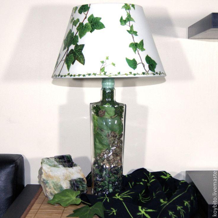 """Светильник настольный """"Плющ"""" 01 - лампа,светильник,подарок,интерьер,световое оформление"""