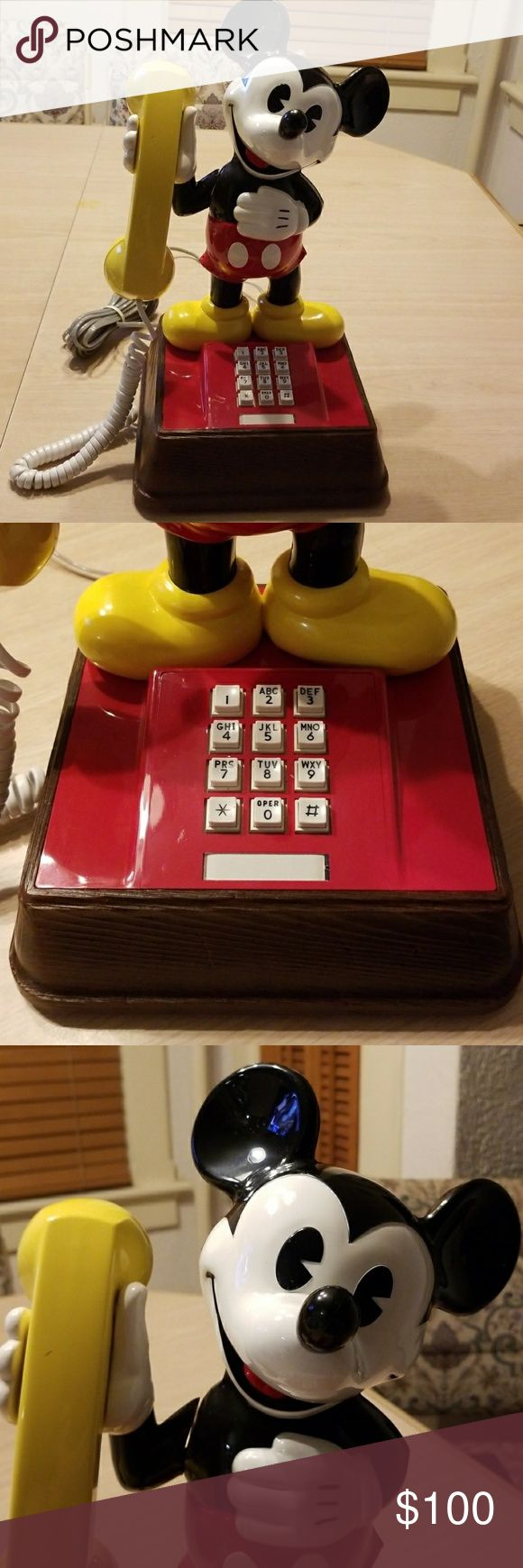 Vintage Mickey Mouse telephone Christmas is coming! Do you know a true Disney fa…