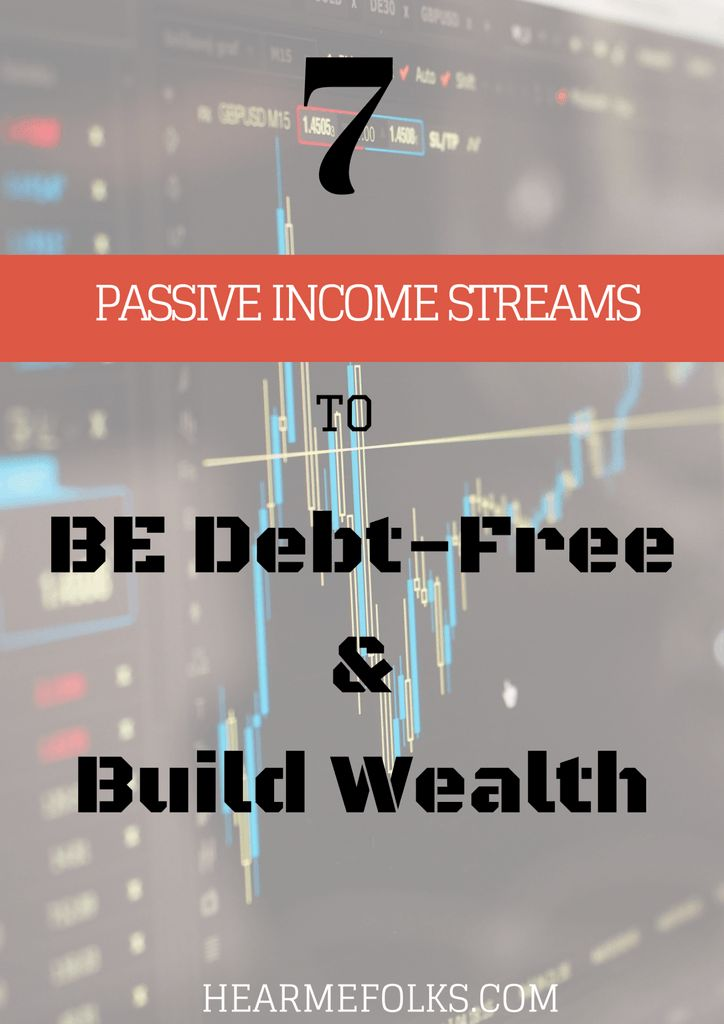 Are you struggling to be debt-free and make #PassiveIncome staying at home? Make a note of this list of Seven tried and tested passive Income Streams to build wealth just by investing Money Upfront. #workfromhome http://hearmefolks.com/passive-income-streams