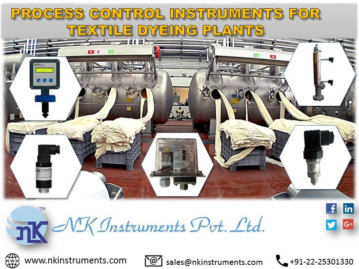 PROCESS CONTROL INSTRUMENTS FOR TEXTILE DYEING PLANTS  www.nkinstruments.com