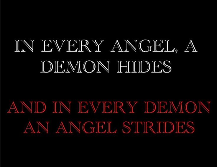 Angel Poems: Demons and angels.