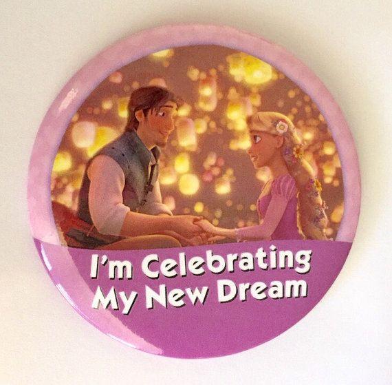 I'm Celebrating My New Dream Button by parkbound on Etsy