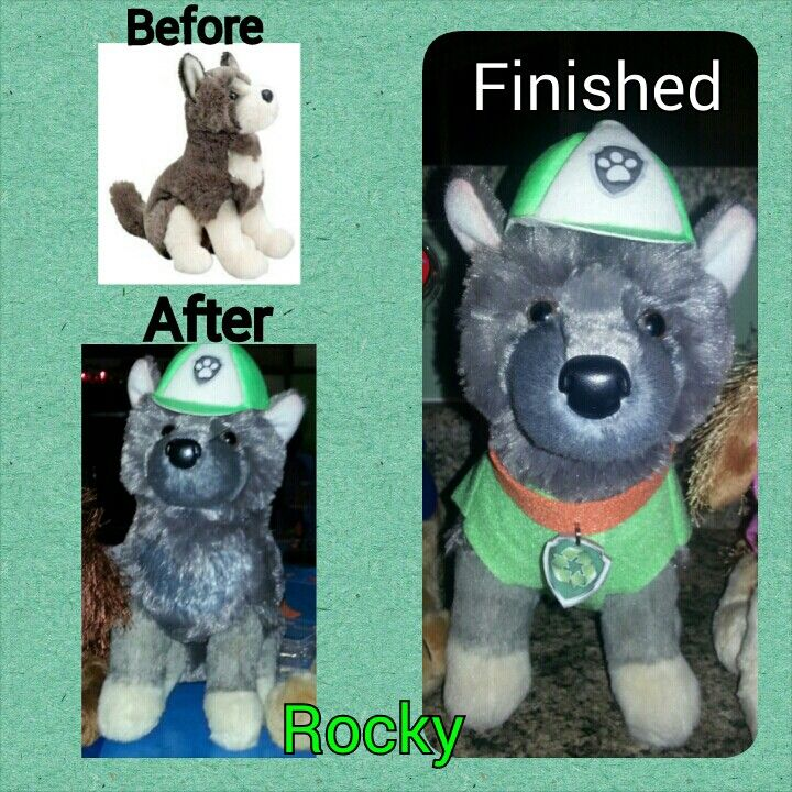 Paw Patrol Rocky Stuffed Animal Things I Ve Made