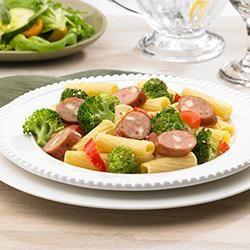 Johnsonville(R) Three Cheese Italian Style Chicken Sausage and Broccoli Rigatoni Allrecipes.com