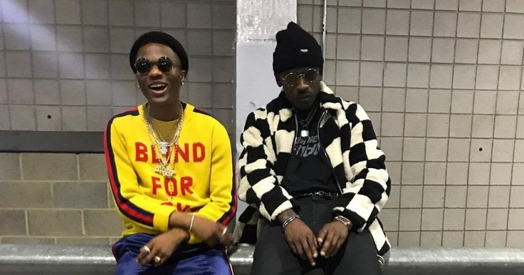 Wizkid Poses With Rapper Skepta As He Arrives London On Tour With Future