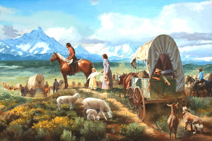 Part III. The Oregon Trail. The wagon caravans of 100 ...