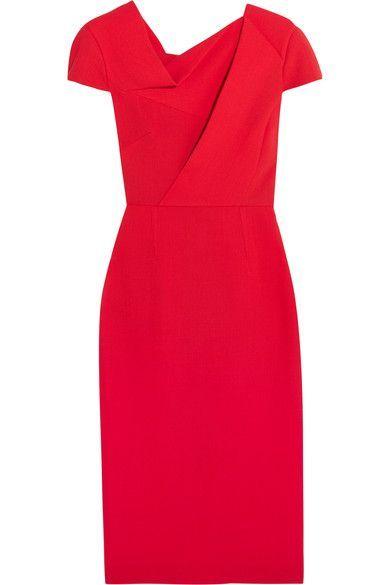 Roland Mouret - Burfield Wool-crepe Dress - Red - UK18
