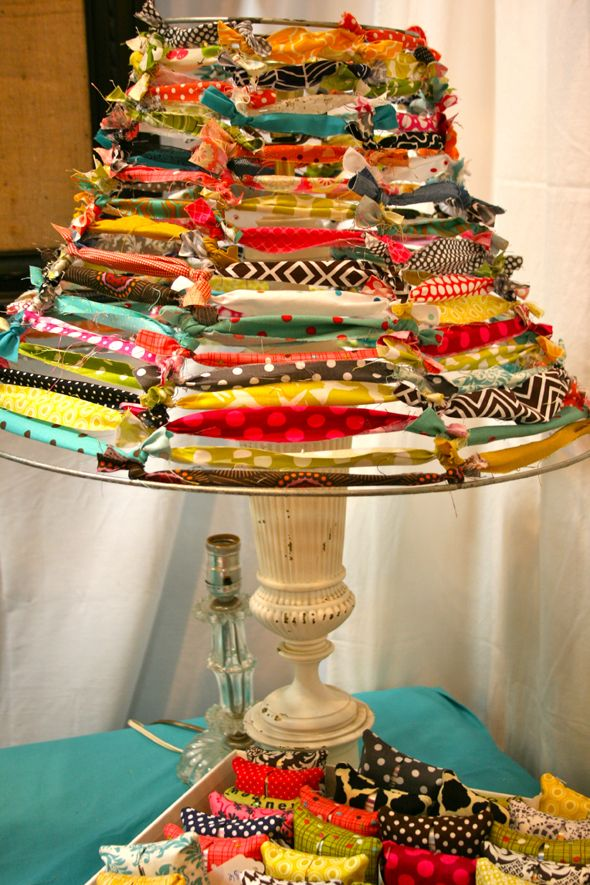 What to do with old lamp shades and ribbon...clothing