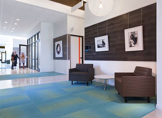 A Pairing Of Millbrae Contract Lounge Chairs At The Cummins LiveWell Center  Provides A Quiet Space
