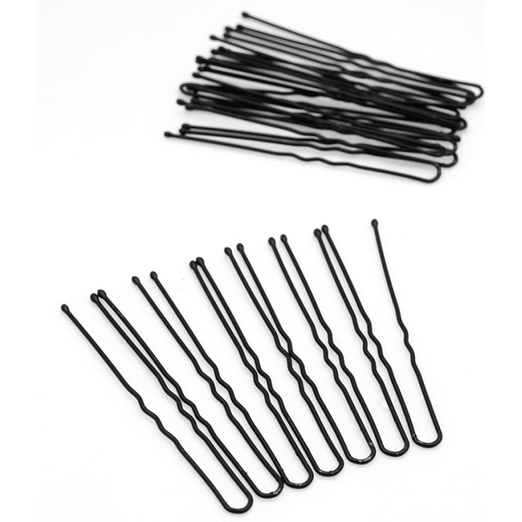 20 pcs hitam logam tipis u bentuk jepit rambut pins terlihat Klip keriting Bergelombang Rambut Kesehatan Perawatan Kecantikan Rambut Styling Alat 6 cm