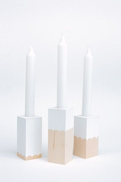 DIY candle holders by Laura Parke