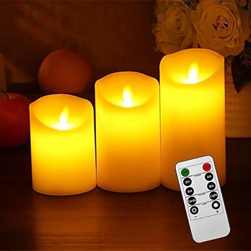 Oferta: 20.99€ Dto: -30%. Comprar Ofertas de Liqoo® 3x LED Velas Eléctrica de Cera Real Mando con Control Remoto Blanco Cálido con Llamas sin Humo Seguro y Porteger Medio barato. ¡Mira las ofertas!