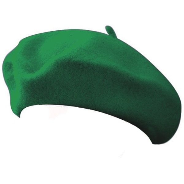 Classic Beret Green ($13) ❤ liked on Polyvore featuring accessories, hats, green beret hat, green beret, beret hat and green hat