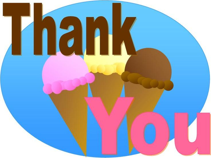 ice cream thank you card | Printables | Pinterest