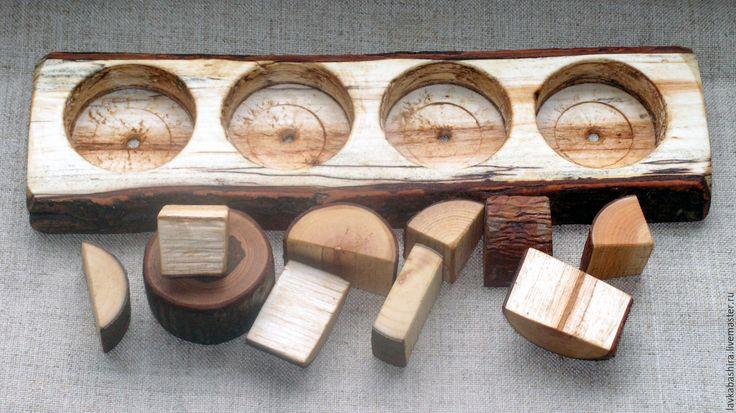 """Купить ВКЛАДЫШИ """"Лесные кругляшки"""" - вальдорфская игрушка, Монтессори, деревянная игрушка, натуральные материалы, считалка"""
