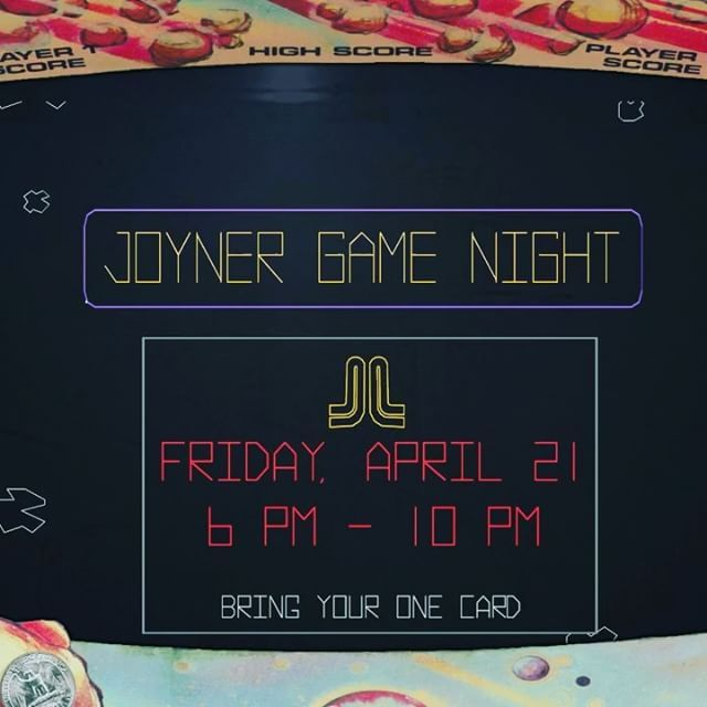 Join us for Game Night this Friday, April 21st from 6-10pm! Play video games and board games, enjoy free pizza, and try out our first ever escape room!