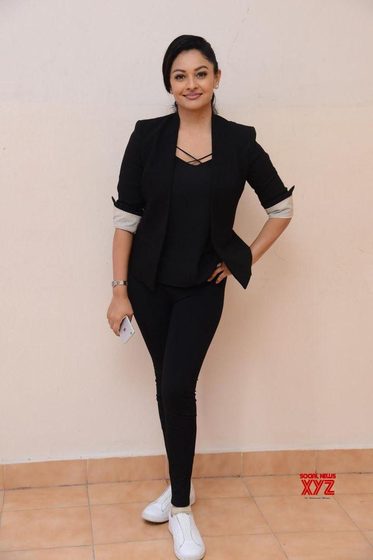 Actress Pooja Kumar Stills With Garuda Vega Movie Team At Bramaramba Theater - Social News XYZ