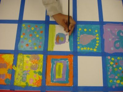 mintagehome: Craft Lab: Classroom Art Project... Auction, picnic blanket???