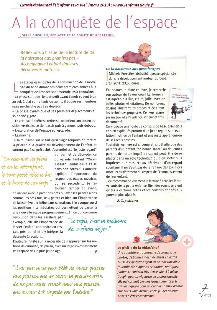 La motricité libre - Enfants - Education Bienveillante Montessori Maternage Astuce Communication Parentalité positive non violente
