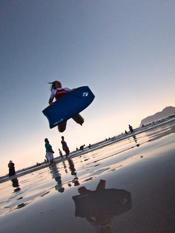 Surfing @ Muizenberg beach, Cape Town