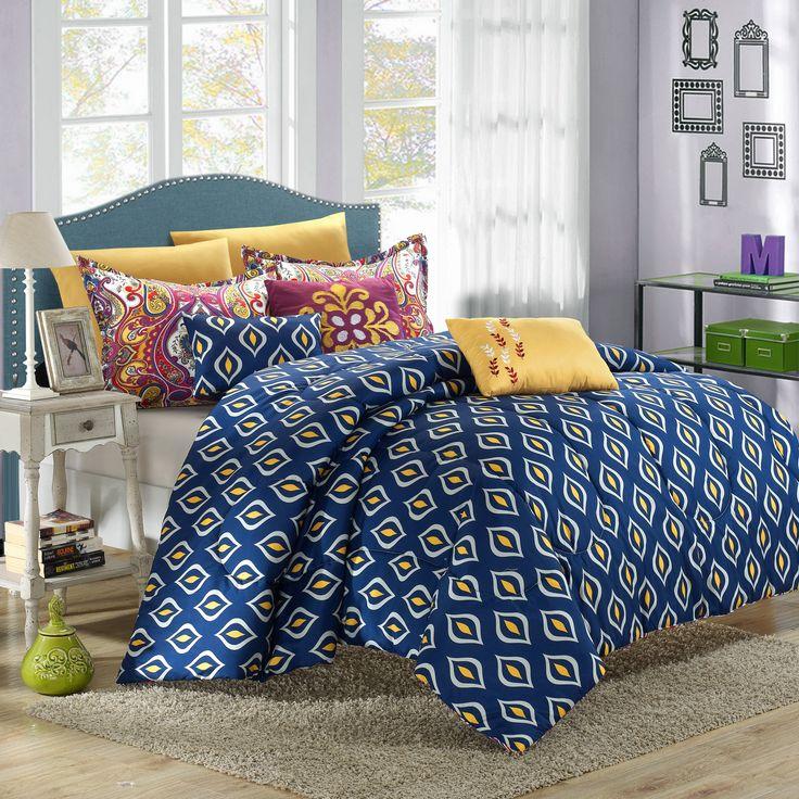 mumbai is a vintage inspired taj mahal like pattern antique style reversible comforter set offers