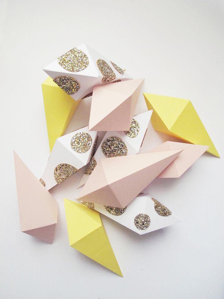 DIY Diamond shaped boxes   Lucille {m}