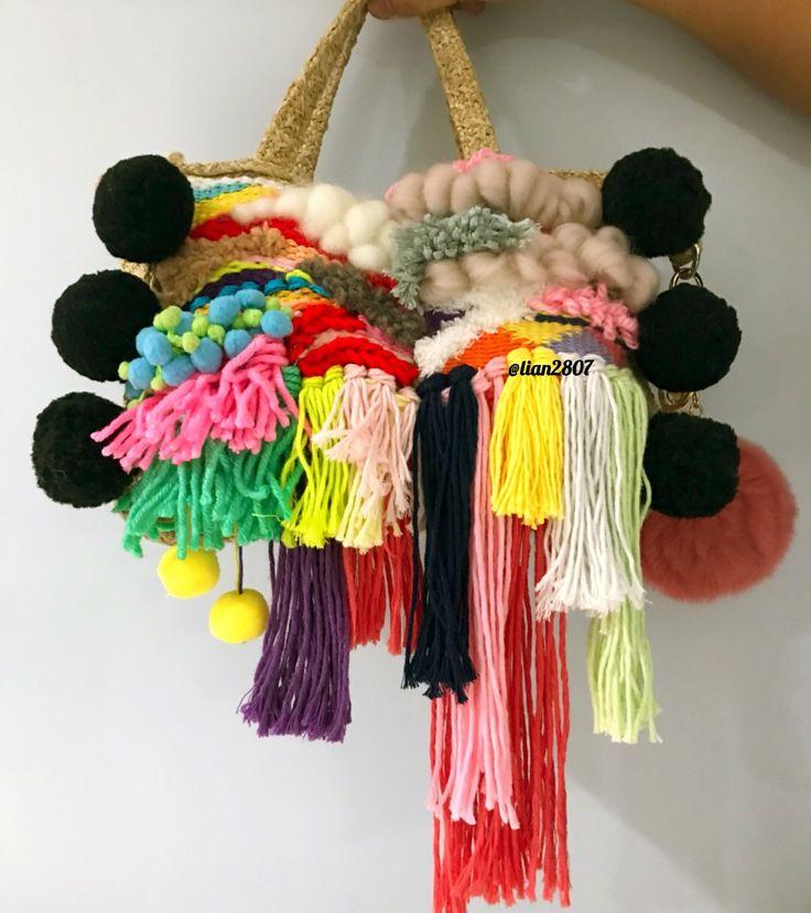 Colorful woven bag