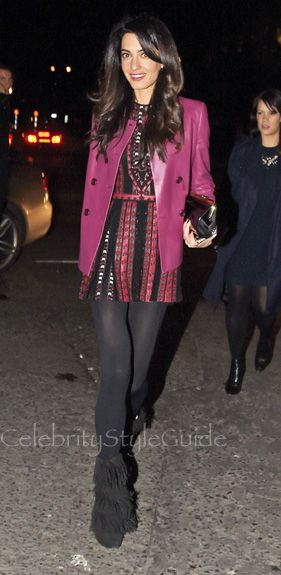 Superbly Fashionable Amal Clooney Steps Out In Valentino In London