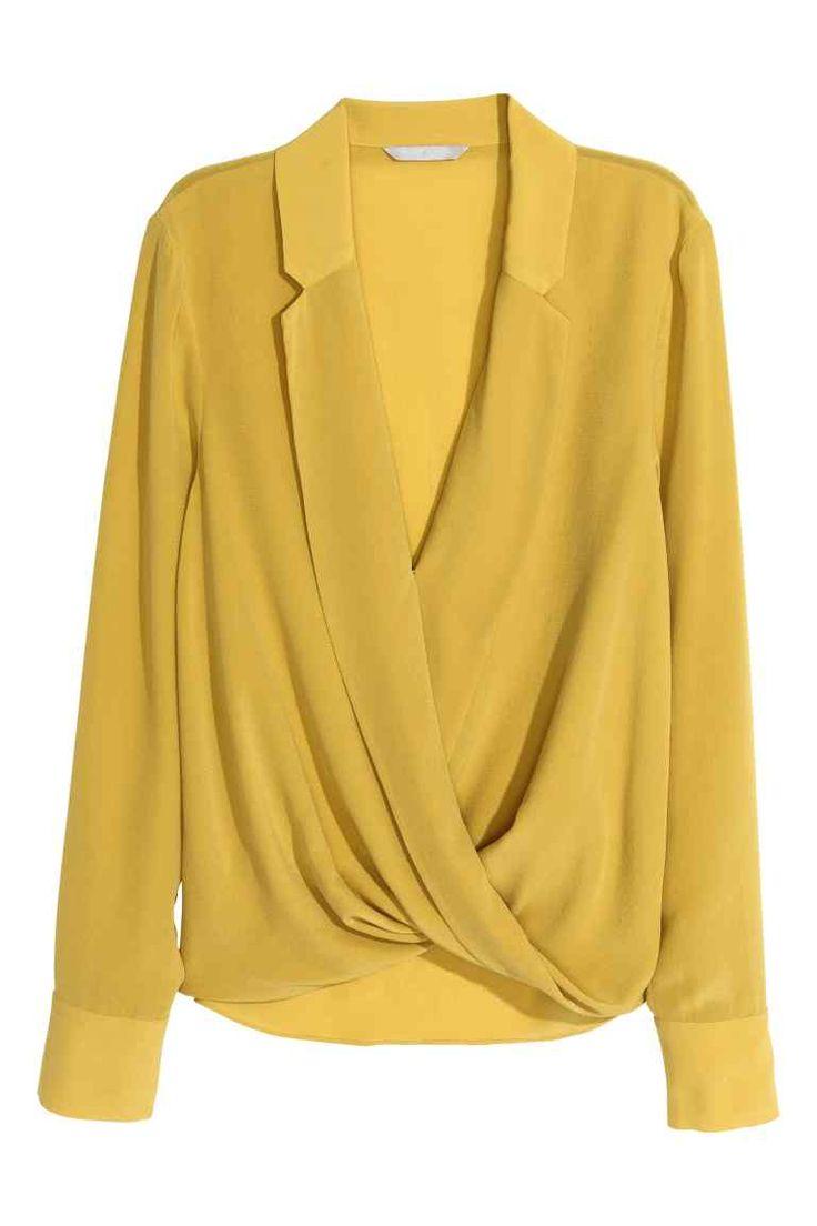 Blusa de seda traçada | H&M
