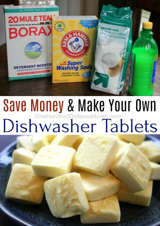 I love the convenience of dishwasher tablets, but the price is just crazy. So lately I've been making my own, and guess what? Making your own dishwasher tablets is super easy, and it doesn't break the bank either. You'll Need: 1 Cup Borax 1 Cup Arm & Hammer Washing Soda 1/2 Cup Epsom Salt 3/4 …
