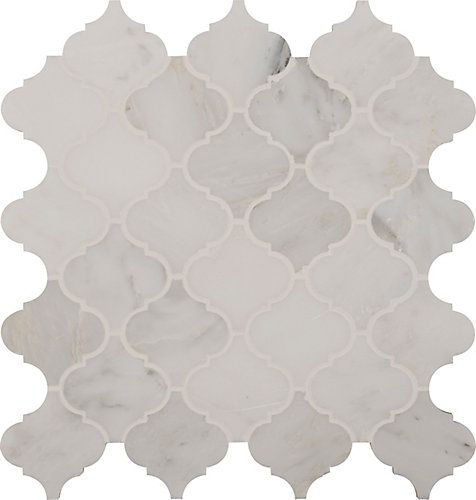Avec les carreaux de mosaïque Greecian White Arabesque de 12 po x 12 po pour planchers et murs de MSI Stone ULC, c'est facile d'ajouter une touche contemporaine à votre décor. Ces carreaux attrayants se caractérisent par des pièces à style d'arabesques et sont montées sur un filet de 12 po x 12 po, ce qui facilite vraiment leur installation. Grâce à leurs élégantes nuances blanches propres au marbre naturel et à leur doux fini au jet de sable, ces carreaux créent un motif unique p...