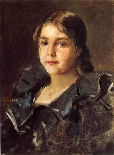 William Merritt Chase, 'Portrait of Helen Velasquez Chase'.