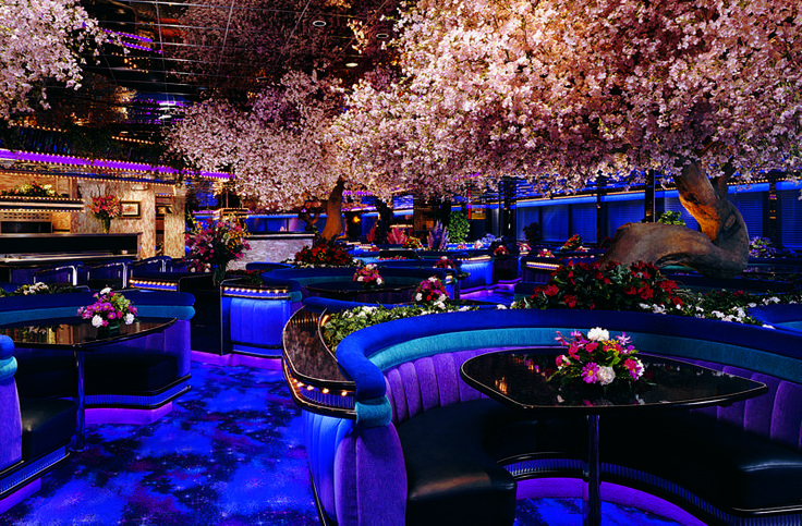 The Peppermill Coffee Shop in Las Vegas... Such a fun place to eat! It looks a little extreme at first, but what isn't in Vegas? The food is great, and in huge portions... I ordered a fruit salad and was saved a fruit sculpture! You can't beat their prices, either!