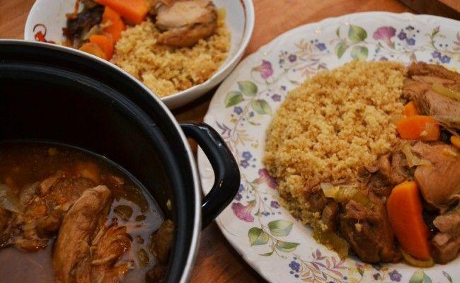 Marokkaanse kipstoof met couscous