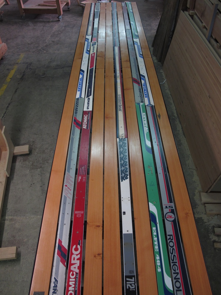 Best projects for old skis images on pinterest bench