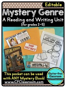 MYSTERY GENRE UNIT (Engaging Reading and Writing Activities for Grades 2-5) - $ - over 40 pages - Engaging unit that can be used at ANY time of year!