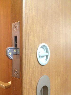 錠前取付 川口技研 引戸錠セパレートタイプ(屋内戸) | 鍵 交換 取り付け 大阪|住吉ロックサービス