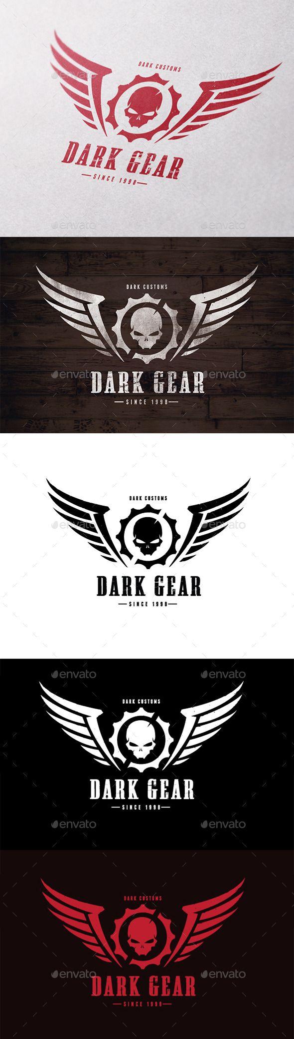 Dark Gear Logo Template #design #logotype Download: http://graphicriver.net/item/dark-gear/10609954?ref=ksioks