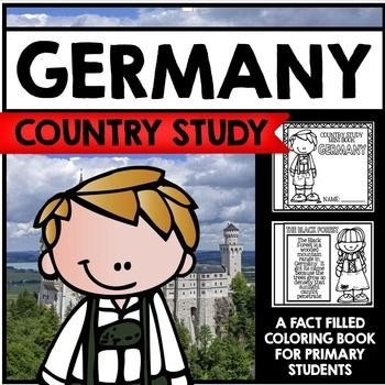 "This 30 Page ""All About Germany"" country study mini booklet project is perfect your upcoming Germany unit, lesson, multicultural study, cultural fair, or country study. Full of information about Germany, this fun coloring book includes information about Germany written in engaging informational text that is perfect for the lower elementary grades."
