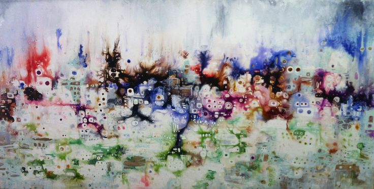 SOLD 'city meets country' by Sarah Boulton www.tuskgallery.com.au