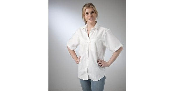 Country Classic Collection – Style 610316 (Long Sleeve) & Style 610326 (Short Sleeve) are a Self-Pattern Classic Blouse made from Cotton Rich fabric in White and are available in sizes – 8 – 22