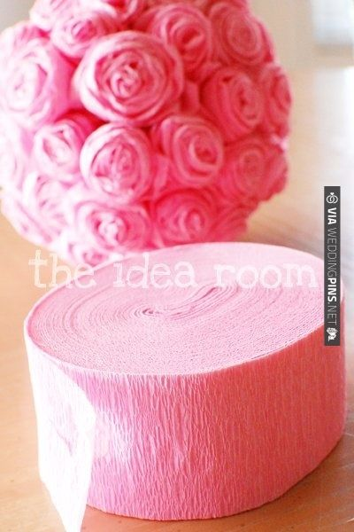 crepe paper roses tutorial. So neat!   CHECK OUT MORE IDEAS AT WEDDINGPINS.NET   #weddings #diyweddings #diy