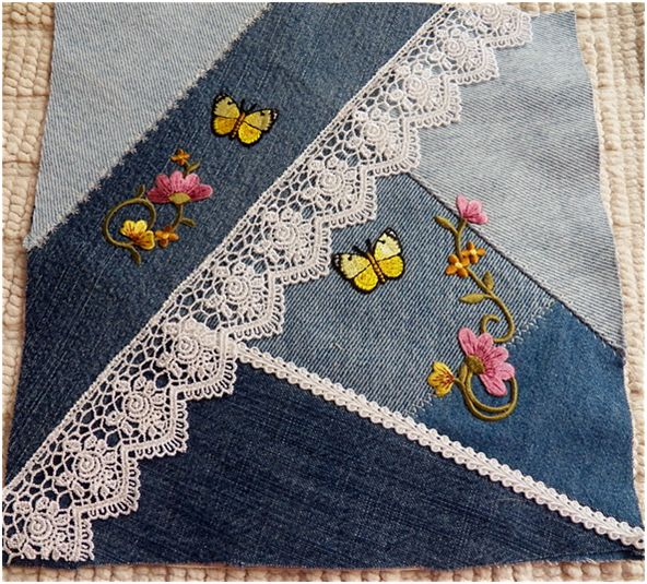Art Threads: Wednesday Sewing - Last of the Denim Squares