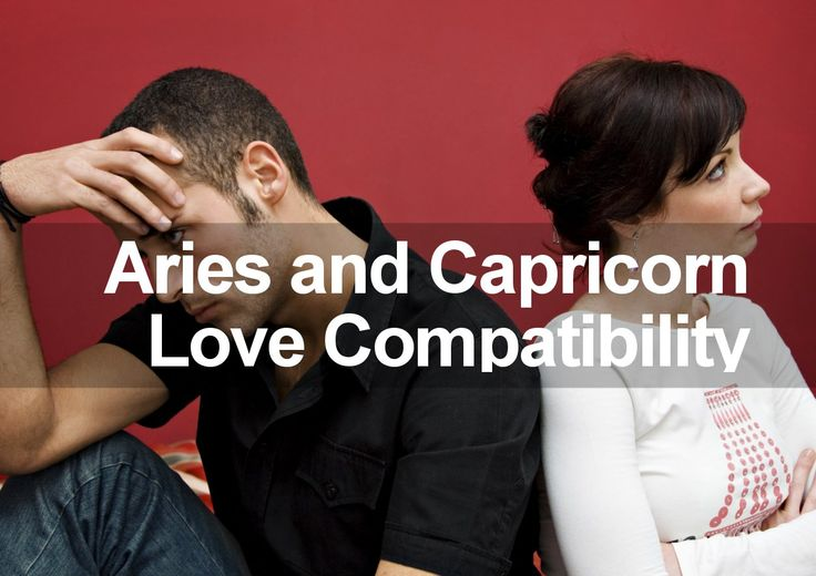 Aries dating capricorn man
